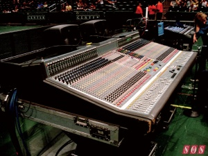 This is what a huge mixing console looks like.