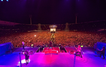 """This is what a crowd looks like when you're in Iron Maiden A.K.A a """"rock star""""."""